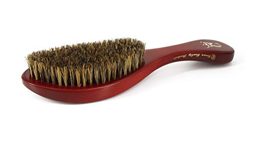 Authentic CQP 360 Gold Premium Crown Wave Brush/ Med. Boar Bristle